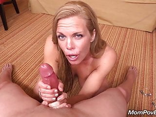 Fit MILF sucks and fucks young flannel