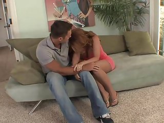 Top mature milf redhead anent stockings fucks great