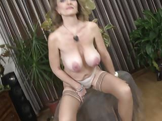 Luxurious grandma with broad in the beam saggy tits