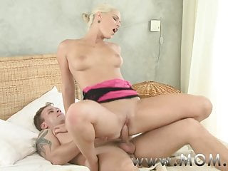 MOM Powered Blonde MILF craves his Cock