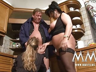 MMV Films Two mature wifes parcelling a cock