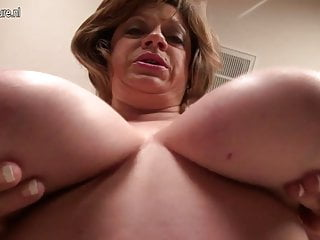Mature American MOM with saggy obese tits