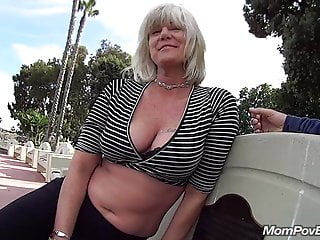MILF fucks plus sucks in public bathroom stall
