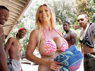 Cougar Stepmom Gets Gangbanged By BBCs - Brooke Tyler