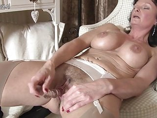 Morose British MILF loves to masturbate