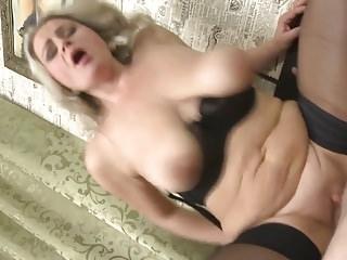Progenitrix with chubby saggy tits gets boycott sex