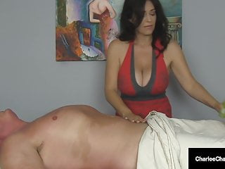 Massage Parlor Milf Charlee Hunting Makes Guy Cum Twice!