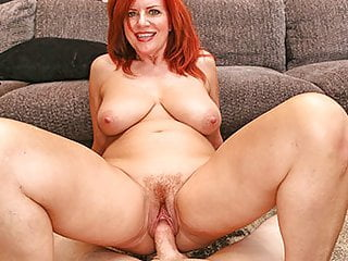 MILFTRIP Big Tit Redhead MILF Creams On Big Learn of