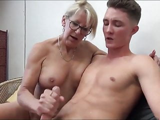 Mature MILF Seduces and Fucks their way 18yo Stepson with Bick coc