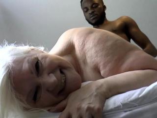 Grandmother banged hard by huge malignant shlong