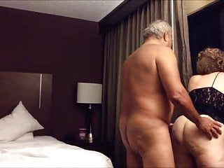 Old chunky ass wife fucked from behind in the hotel area