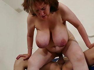 shows off big saggy tits