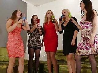 Five horny women
