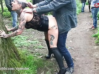 MyDirtyHobby -Mature German publicly creampied by unwitting guy
