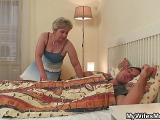 Old mother far law wakes him form ranks taboo sex