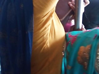 Tamil betrothed chudi aunty hot communication in bus