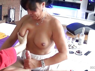 Horny German Of age Step Mom Seduce Son to Fuck her Anal