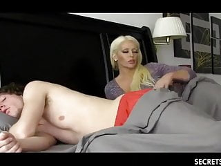 Shameless Stepmom with Big Pair Seduced Young Stepson