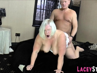 Brit granny sucks shlong and gets pounded