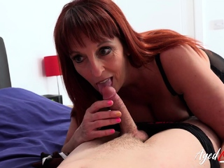 AgedLovE British Of age Blowjob and Pussy Shellacking