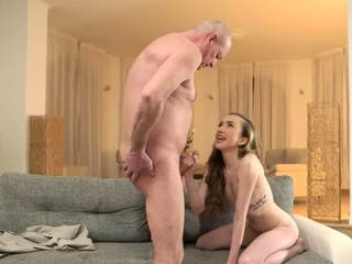 Age-old granny fucks monster cock and swept off one's feet me daddy Russian Lang