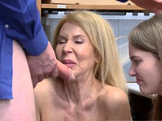 Old fair-haired huge tits While argument occurred, grandmother he