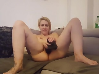 French clumsy wife tiffany orgasm dildo