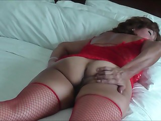 ASIAN WIFE IN RED SOCKS