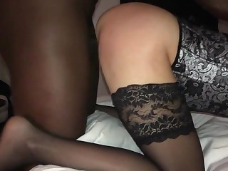 Husband films wife relating to nice stockings concerning bbc