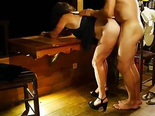 My spliced fucked her lover-cuckold gets facesitting