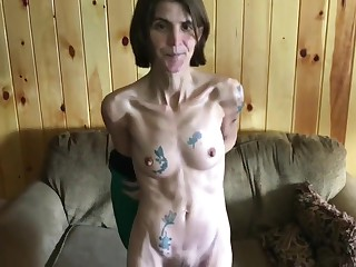 Skinny tattooed wife flashing her Victorian pussy compilation