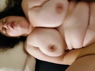 Hairy Chubby Wife Anal and Pussy Creampie