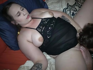 Family Friend Shares Wife's Pussy With Husband In MMF Spit Roast (1 of 2)
