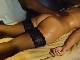Wife honeymoon massage
