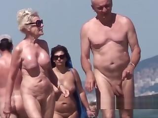 Longhair nudist milfs beach voyeur spycam