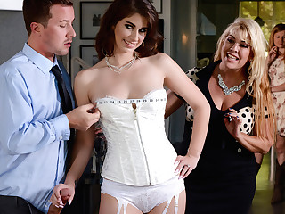Karina White & Jessy Jones in Say Yes To Getting Fucked In Your Wedding Clothing - Brazzers