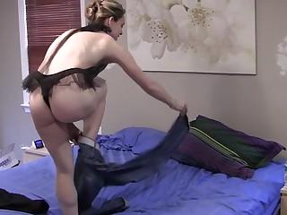 Wife stripping revel in lingerie