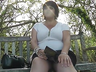 Upskirt in the country park part one