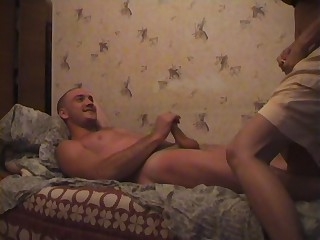 Carol in threesome enactment with an amateur tie the knot with an increment of two guys