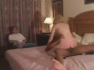 Hubby Watches Wife Take BBC & Creampie