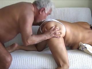 Old man licking lynn hole ass
