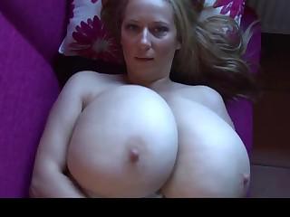 Herculean Boobs on Blonde Hottie