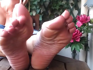 Despondent Girl Feet Soles