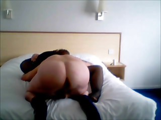 Slut wife gets fucked with reference to hotel room