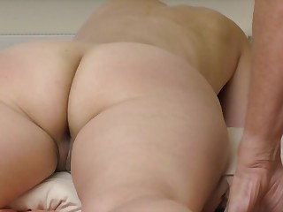 My wife big butt and asshole massage strong orgasm