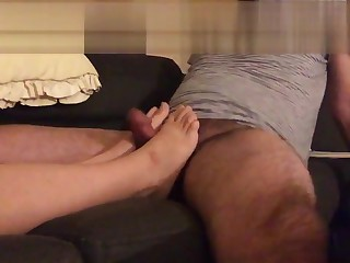 Fucking and cumming on wife s feet