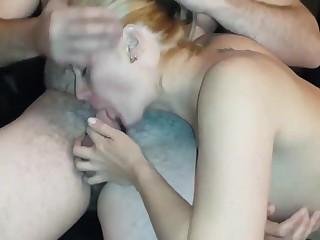 Spliced sucks fuck buddy while hubby fucks finger fucked her