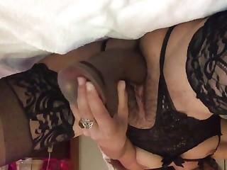 Hard dildo trainning for junior pussy slut