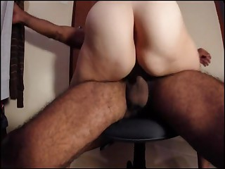 Flimsy pussy real amateur wife rides lap wife cums grinds