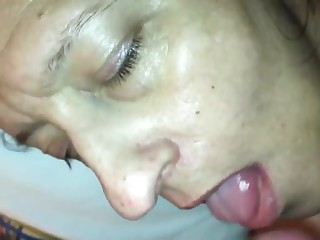 Ex-wife ass drill-hole and mouth load